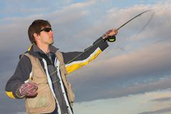 Flyfishing #6 Royalty Free Stock Photography