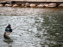 FlyFishing dans le Colorado Photo stock