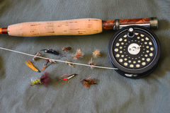 Flyfishing gear Stock Image