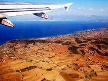 Flyg över havet Arkivbilder