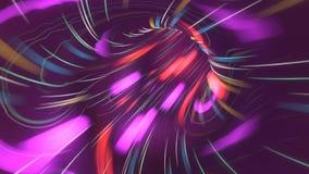 Flyg över tunnelen för neonljus Lopp för utrymme för fi för cyberspacemaskhålsci Den sömlösa öglasrörelsedesignen av rymdskeppet  vektor illustrationer
