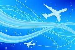 flyg stock illustrationer
