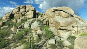 Flyg- Arizona stenblock flyger över stock video