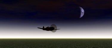 Flyg av hjälten vektor illustrationer