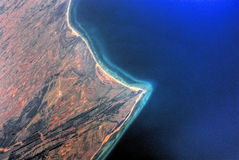 flyg- bahrain sikt Arkivfoto