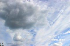 flyg- bakgrund clouds skysikt Royaltyfria Bilder