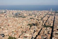 flyg- barcelona sikt royaltyfri bild