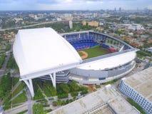 Flyg- baseballstadion Arkivbilder