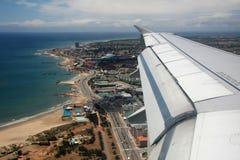 flyg- beachfront sikt royaltyfri bild