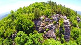 Flyg- berg Shenandoah Valley för blå kant arkivfilmer