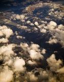 flyg- bergsolnedgång Arkivfoton