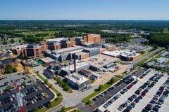 Flyg- bild av Christiana Hospital Newark DE USA arkivfoton