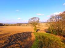 Flyg- bild av jordbruksmark i Sussex Arkivfoto