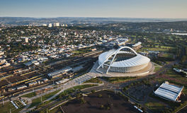 Flyg- bild av Moses Mabhida Stadium Durban Royaltyfri Foto