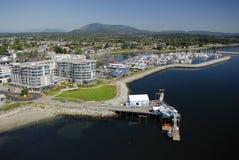 Flyg- bild av Sidney, Vancouver ö, F. KR., Kanada arkivfoton
