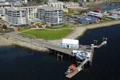 Flyg- bild av Sidney, Vancouver ö, F. KR., Kanada royaltyfria foton
