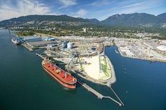 Flyg- bild av Vancouver, F. KR. royaltyfria bilder