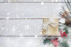 Flyg- bild för bästa sikt av glad jul & begreppet för lyckligt nytt år Royaltyfria Bilder