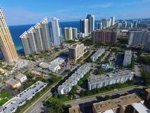 Flyg- bild Sunny Isles Beach FL Royaltyfri Bild