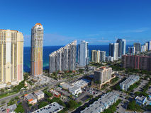 Flyg- bild Sunny Isles Beach FL Arkivbilder
