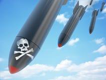 Flyg- bombardera och himmel stock illustrationer