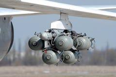 Flyg bombarderar Fotografering för Bildbyråer