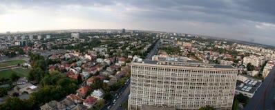 flyg- bucharest panorama- sikt Arkivfoton