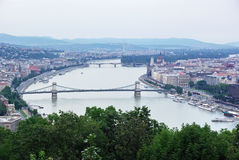 flyg- budapest sikt Fotografering för Bildbyråer