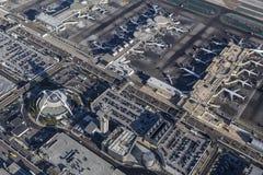 Flyg- byggnader Los Angeles för internationell flygplats Royaltyfria Foton