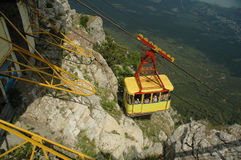 flyg- cableway crimea Arkivbild