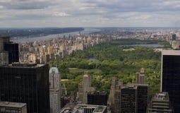flyg- Central Park sikt Arkivfoto