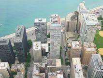 flyg- chicago Fotografering för Bildbyråer