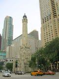 flyg- chicago Arkivbild