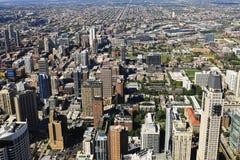 flyg- chicago horisontsikt Arkivfoto