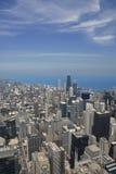 flyg- chicago i stadens centrum sikt Royaltyfria Bilder