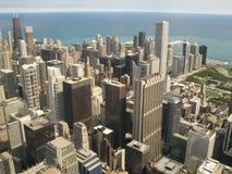 flyg- chicago sikt Arkivfoto