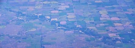 Flyg- Cloudscape sikt över midwest stater på flyg över Colorado, Kansas, Missouri, Illinois, Indiana, Ohio och West Virginia du arkivbild
