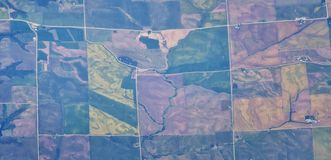 Flyg- Cloudscape sikt över midwest stater på flyg över Colorado, Kansas, Missouri, Illinois, Indiana, Ohio och West Virginia du royaltyfri bild