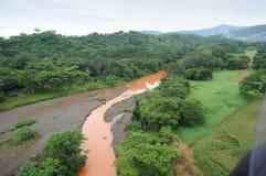 flyg- Costa Rica sikt Arkivfoto