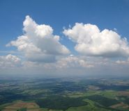 flyg- cumulussikt Royaltyfri Foto
