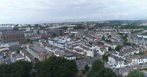 Flyg- dockasikt av den norr delen av staden av Brighton stock video