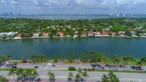 Flyg- drev för Miami Beach herrgårdtall stock video