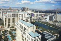 flyg- eiffel hotelllas river av den övre tornvegas sikten Royaltyfri Bild