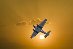 Flyg för bilskrällen Ju52 D-AQUI över den Taunus regionen Arkivbilder