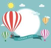 Flyg för luftballong Royaltyfria Bilder