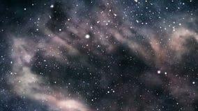 Flyg för mörk nebulosa stock illustrationer