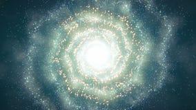 Flyg för spiralgalax royaltyfri illustrationer