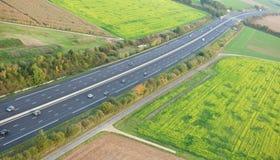 flyg- france motorwaysikt för a10 Arkivbild
