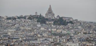 flyg- france paris sikt royaltyfri fotografi