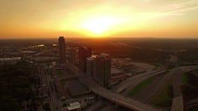 Flyg- Georgia Atlanta arkivfilmer